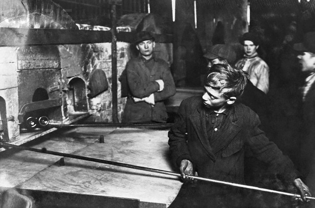 Young Glass Factory Workers in Pittsburgh